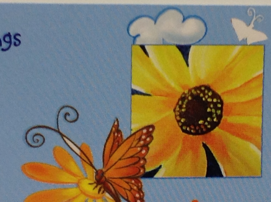 Logo picture: Butterfly and sunflower