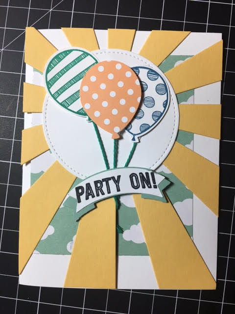 Sunny Ballon Builder Card