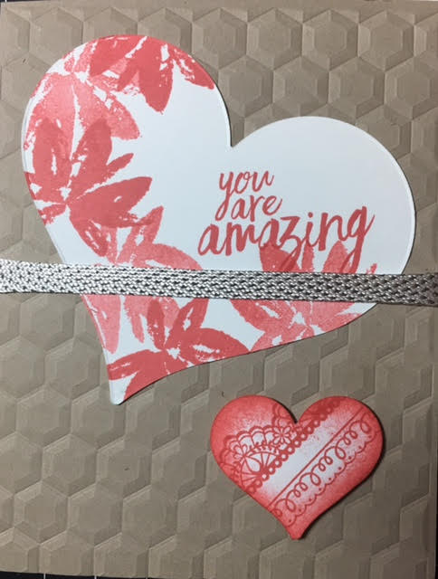 You're Amazing Hexagon Heart Card