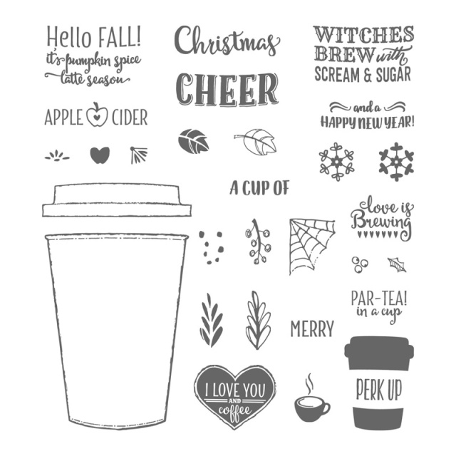 Merry Cafe Photopolymer Stamp Set