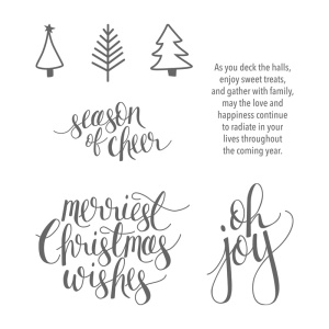 Picture of the images included in the Watercolor Wishes Stamp Set (sold separately).