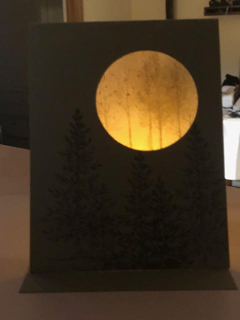 Luminaria Card-two sided-Soft S-lighted