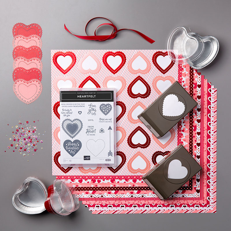 Picture showing all the products included in the From My Heart Bundle
